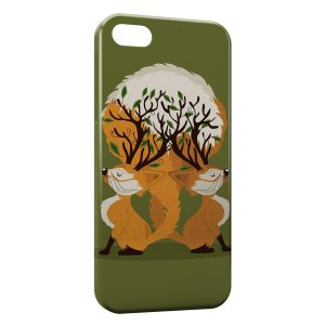 Coque iPhone 5/5S/SE Cute Fox Renards