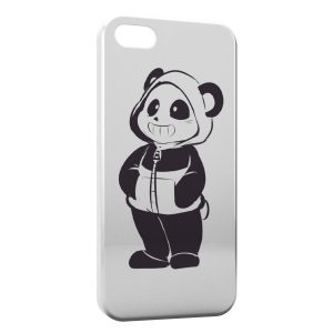 Coque iPhone 5/5S/SE Cute Panda Black & White Art