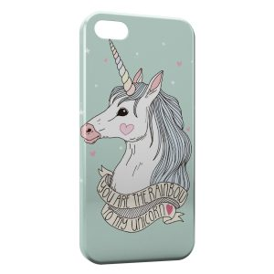 Coque iPhone 5/5S/SE Cute Unicorn Licorne 2