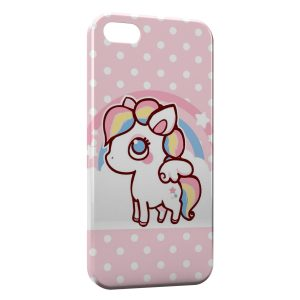 Coque iPhone 5/5S/SE Cute Unicorn Licorne Pink
