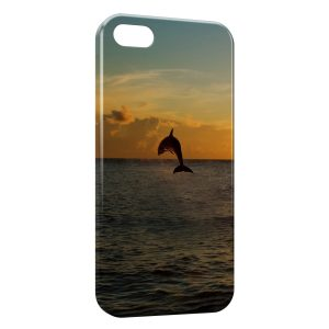 Coque iPhone 5/5S/SE Dauphin Ocean 4