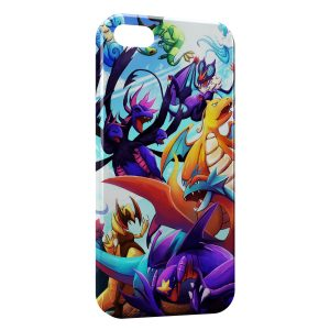 Coque iPhone 5/5S/SE Dracolosse Dracaufeu Pokemon Graphic