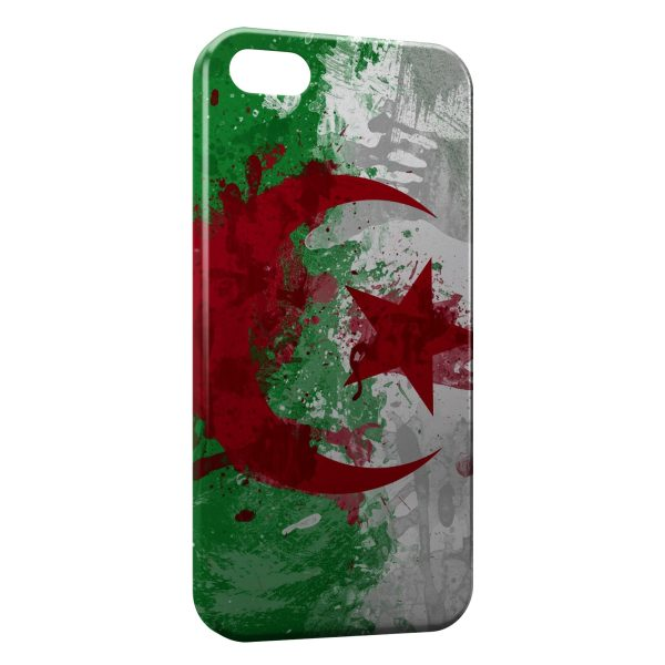 Coque iPhone 5/5S/SE Drapeau Algerie