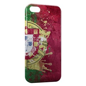Coque iPhone 5/5S/SE Drapeau Portugal Art