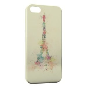 Coque iPhone 5/5S/SE Eiffel Tower Painted