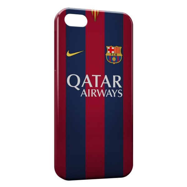 Coque iPhone 5/5S/SE FC Barcelone FCB Qatar Airways Football 14