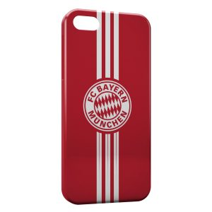 Coque iPhone 5/5S/SE FC Bayern Munich Allemagne Football Red