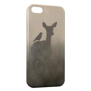 Coque iPhone 5/5S/SE Faon Biche Romantique