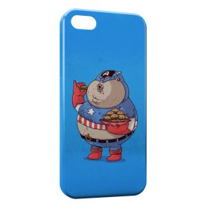 Coque iPhone 5/5S/SE Fat Captain America