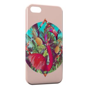 Coque iPhone 5/5S/SE Flamant Rose Art Design