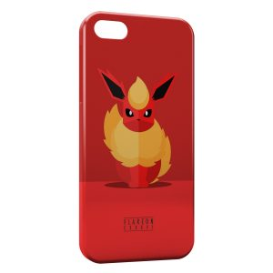 Coque iPhone 5/5S/SE Flareon Pokemon Art