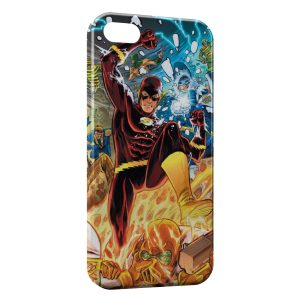 Coque iPhone 5/5S/SE Flash & Marvel Comics Design