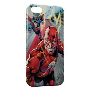 Coque iPhone 5/5S/SE Flash & Superman 4