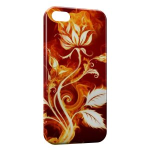 Coque iPhone 5/5S/SE Fleur in Fire
