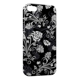 Coque iPhone 5/5S/SE Fleurs Black & White Design