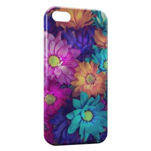 Coque iPhone 5/5S/SE Fleurs Colors 11