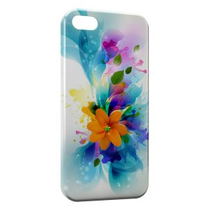 Coque iPhone 5/5S/SE Fleurs Glossy