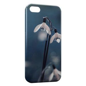 Coque iPhone 5/5S/SE Fleurs de neige