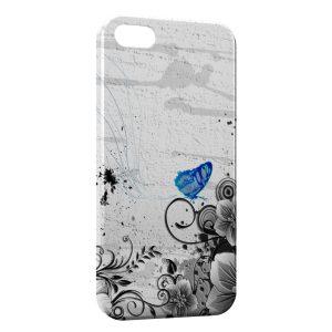 Coque iPhone 5/5S/SE Fleurs et Papillons