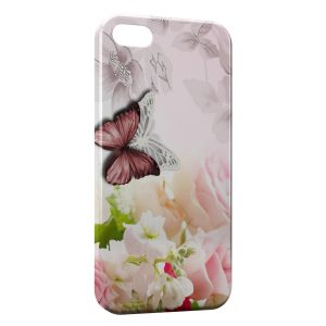 Coque iPhone 5/5S/SE Flowers & Butterflies 2
