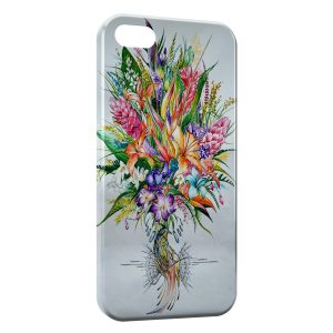 Coque iPhone 5/5S/SE Flowers Exotic