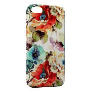 Coque iPhone 5/5S/SE Flowers Fleur Peinture