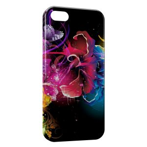 Coque iPhone 5/5S/SE Flowers Fleurs Multicolor