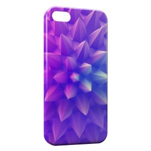 Coque iPhone 5/5S/SE Forme Violette Design 3D