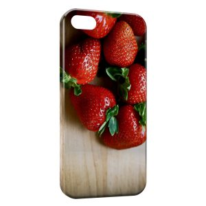 Coque iPhone 5/5S/SE Fraises Fruits