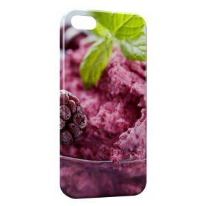 Coque iPhone 5/5S/SE Framboise sur Glace
