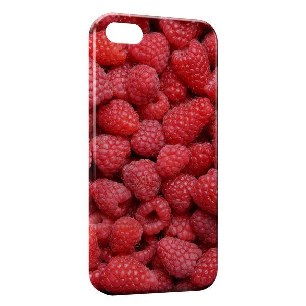 Coque iPhone 5/5S/SE Framboises en Folie