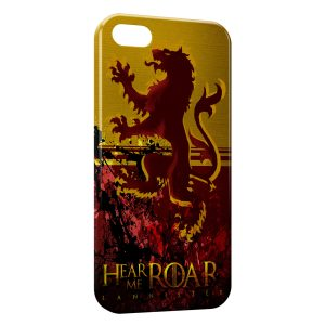 Coque iPhone 5/5S/SE Game of Thrones Hear me Roar Lannister