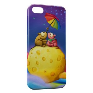 Coque iPhone 5/5S/SE Girly Cartoon Parapluie