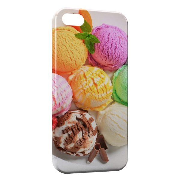 Coque iPhone 5/5S/SE Glaces Colors