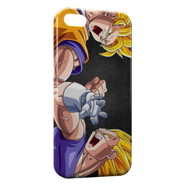 Coque iPhone 5/5S/SE Goku vs Vegeta - Dragon Ball Z