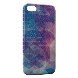 Coque iPhone 5/5S/SE Graphic Design Blue & Violet