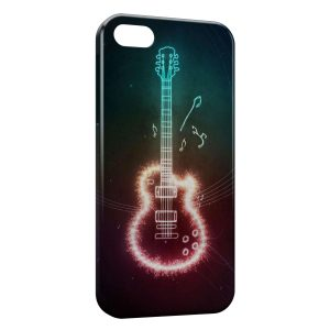 Coque iPhone 5/5S/SE Guitare Graphic Colored