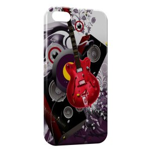 Coque iPhone 5/5S/SE Guitare Rouge Graphic Style