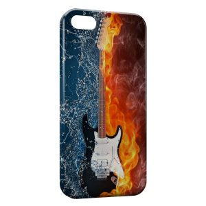 Coque iPhone 5/5S/SE Guitare Water & Fire