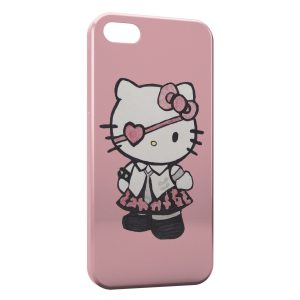 Coque iPhone 5/5S/SE Hello Kitty Robe Rose