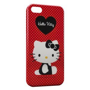 Coque iPhone 5/5S/SE Hello Kitty Rouge