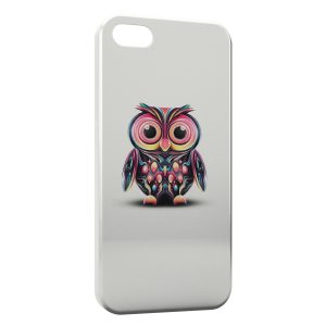 Coque iPhone 5/5S/SE Hiboux Art