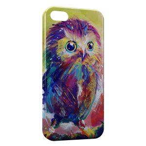 Coque iPhone 5/5S/SE Hiboux Art Painted