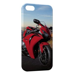 Coque iPhone 5/5S/SE Honda cbr 1000rr Rouge Moto