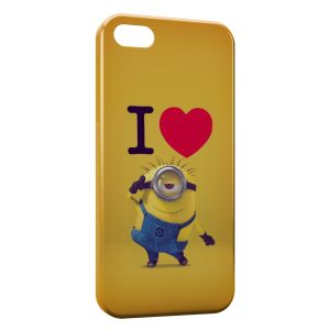 Coque iPhone 5/5S/SE I love Minion