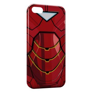Coque iPhone 5/5S/SE Iron Man Avenger Style Red Armure