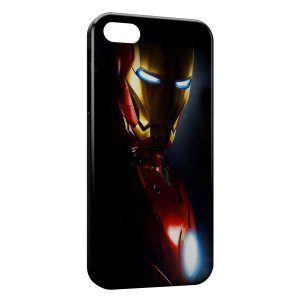 Coque iPhone 5/5S/SE Iron Man Black Red