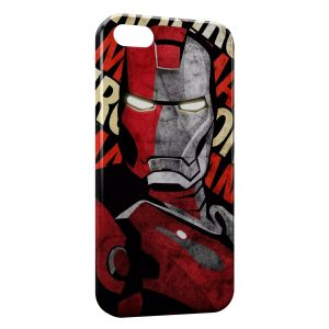 Coque iPhone 5/5S/SE Iron Man Design Art