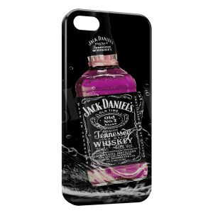 Coque iPhone 5/5S/SE Jack Daniel's Pink Rose Art