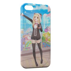 Coque iPhone 5/5S/SE Kawaii Girl Music 2
